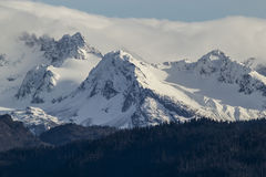 Kenai Mountain Peaks Royalty Free Stock Photography
