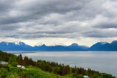 Kenai Mountain Range and Kachemak Bay Alaska Royalty Free Stock Image