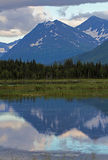 Kenai Mountain Range Reflection in Tern Lake Royalty Free Stock Photography
