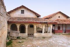 The kenassa building in Chufut-Kale in Crimea in spring Stock Photo