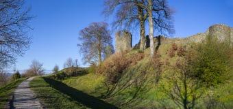 Kendal城堡在Cumbria 图库摄影