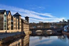 kendal flodstrand för byggnader Arkivbilder