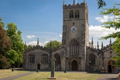 Kendal Parish Church in Cumbria, UK. Th church is dedicated to t stock images