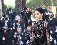 Kendall Jenner attends the screening of `From The Land Of The Mo. On Mal De Pierres` at the annual 69th Cannes Film Festival at Palais des Festivals on May 15 stock images