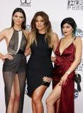 Kendall Jenner, Khloe Kardashian και Kylie Jenner Στοκ Φωτογραφίες