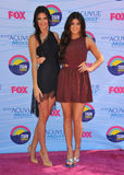 Kendall Jenner,Kylie Jenner royalty free stock photos
