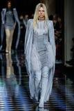 Kendall Jenner walks the runway during the Balmain show Stock Image