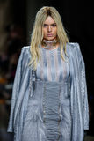 Kendall Jenner walks the runway during the Balmain show Royalty Free Stock Images