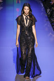 Kendall Jenner walks the runway during the Elie Saab show Royalty Free Stock Photography