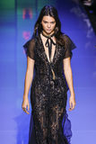 Kendall Jenner walks the runway during the Elie Saab show Stock Photos