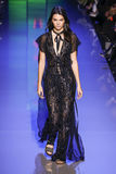 Kendall Jenner walks the runway during the Elie Saab show Royalty Free Stock Images