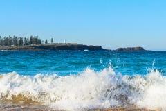 Kendalls海滩, Kiama,澳大利亚 免版税库存图片