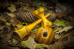 Kendama in an autumnal composition Stock Photography