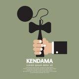 Kendama In Hand. Stock Photo
