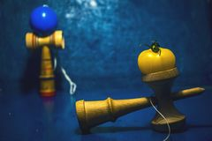 `Kendama` traditional Japanese toy and healthy food for teens kids concept teenagers food habits concept children health. Problems royalty free stock photography