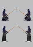 Kendo武术准备姿势 库存照片