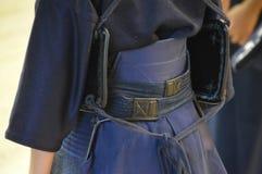 Kendo衣服的后侧方 免版税库存图片