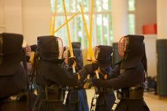 Kendo övning Royaltyfri Fotografi