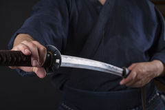 Kendo fighter Royalty Free Stock Photo