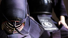 Kendo fighter equip stock footage