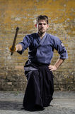 Kendo fighter Royalty Free Stock Photography