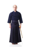 Kendo fighter with Shinai Stock Images