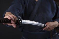 Kendo kämpe Royaltyfri Foto