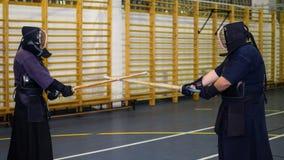 Kendo-Kämpfer lizenzfreie stockbilder