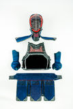 Kendo - Kendoka armor and equipment arranged and displayed on white background. Royalty Free Stock Photo