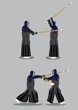 Kendo Martial Arts Vetora Illustration Fotografia de Stock Royalty Free