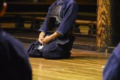 Kendo Practioner From The Back Fotografia Stock Libera da Diritti