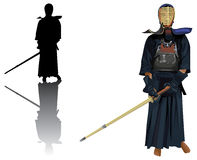 Kendo warrior Stock Photos