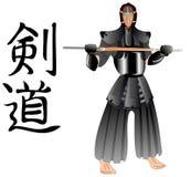 Kendo warrior Royalty Free Stock Photos