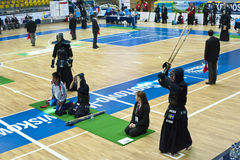 Kendo warriors. During the European Kendo Championships 2011 in Gdynia, Poland Stock Photo