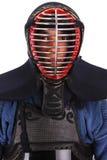 Kendoca. Young man in kendo (Japanese fencing) uniform Royalty Free Stock Photos