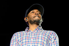 Kendrick Lamar (αμερικανικό χιπ χοπ που καταγράφει τον καλλιτέχνη) Στοκ Εικόνες