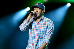 Kendrick Lamar (rap artist) performs at Heineken Primavera Sound 2014 Festival (PS14) Royalty Free Stock Image