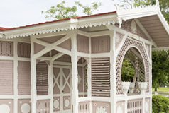 Keng Boo-Pah Pra-Paht. Detail of Keng Boo-Pah Pra-Paht, a little and charming structure in the grounds of the Bang Pa-in Palace compound, Thailand royalty free stock photos