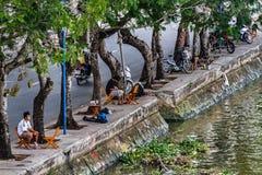 Kenh Te Canal, District 7, Saigon, Vietnam royalty-vrije stock foto