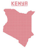 Kenia África Dot Map Foto de archivo libre de regalías