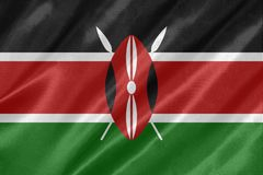 Kenia-Flagge stock abbildung