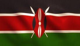 Kenia-Flagge lizenzfreie stockfotos