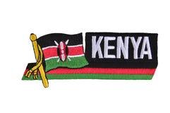 Kenia-Markierungsfahne. Lizenzfreie Stockfotos