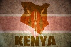 Kenia-Weinlesekarte lizenzfreie stockfotografie