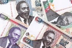 Keniaans geld, een achtergrond royalty-vrije stock foto
