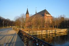 Kenigsberg Cathedral is main symbol of the city Royalty Free Stock Image