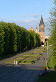 Kenigsberg Cathedral is main symbol of the city. Kaliningrad Royalty Free Stock Photos