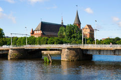Kenigsberg domkyrka. Kaliningrad. Ryssland Arkivfoto