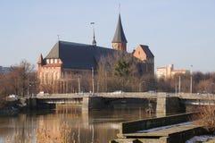 Kenigsberg domkyrka. Kaliningrad. Ryssland Arkivbild