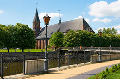 Kenigsberg katedra jest głównym symbolem miasto Kaliningrad Obrazy Royalty Free